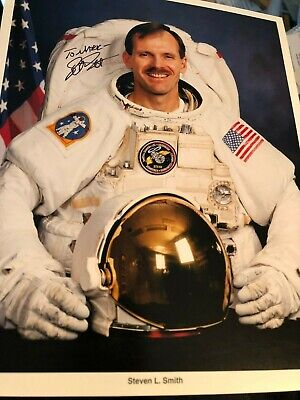 Steven Smith Nasa Space Shuttle Astronaut Autograph Signed Litho Photo