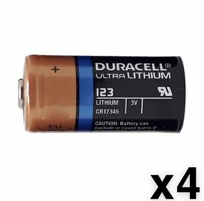 4 FOUR Duracell CR123A 3V CR123 DL123 Ultra Lithium Batteries NEW EXP 2024