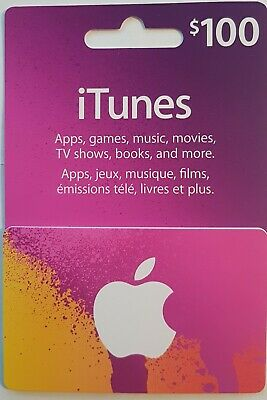 Canadian iTunes GIFT CARD - 100$