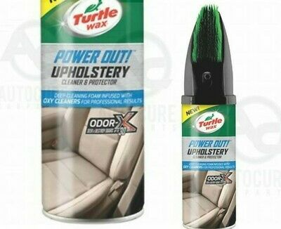 TURTLE WAX POWER OUT Upholstery Cleaner - 400ml TRACKED DELIVERY ODOR-X