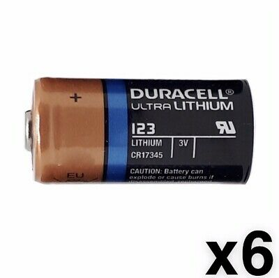 6 SIX Duracell CR123A 3V CR123 DL123 Ultra Lithium Batteries NEW EXP 2027