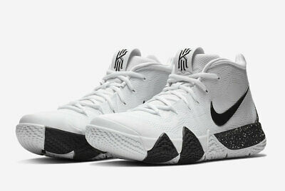 5af7a44a29df Nike Kyrie 4 TB Mens AV2296-100 White Black Team Bank Basketball Shoes Size  10