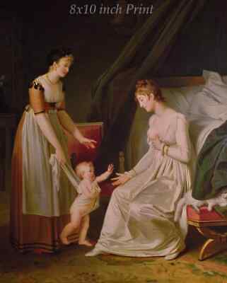 The Breastfeeding Mother by Marguerite Gerard - Woman Child 8x10 Print 2527