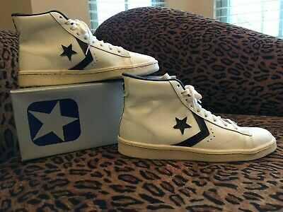 734af1981ceb48 VTG 80 S CONVERSE ALL STAR PRO LEATHER HI TOP BASKETBALL SHOES RARE NOS  shoes
