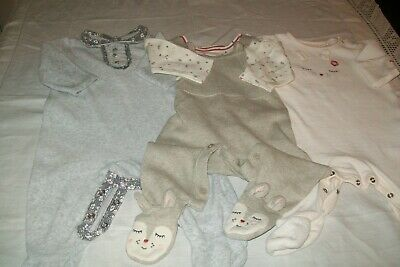 Baby girls clothes Mothercare set & babygrows 3-6m - combined postage available
