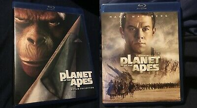 Planet of the Apes 5 Film Collection (Blu-ray 5-Disc Set) & 2001 Tim Burton Film