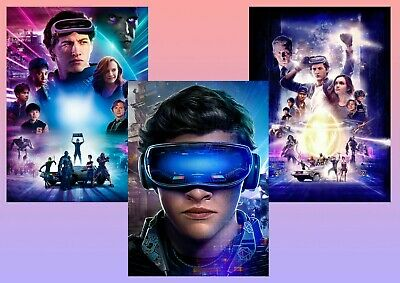 Steven Spielberg's Ready Player One: Oasis  A5 A4 A3 Textless Film-DVD Posters