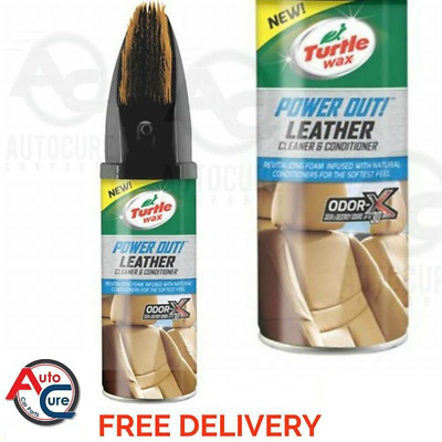 TURTLE WAX Power Out Leather Cleaner & Conditioner 400ml TRACKED DELIVERY ODOR-X