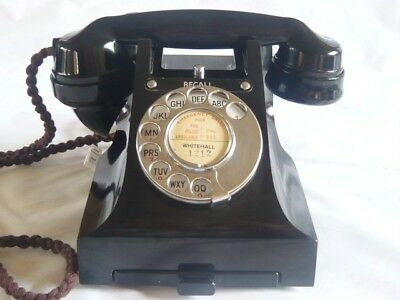 RARE VINTAGE BAKELITE TELEPHONE 330 RECALL GPO ART DECO RETRO antique phone 1950