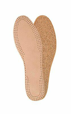 Natural leather insoles for ladies with cork underlayer, inserts, replacement...
