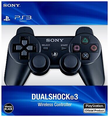 Sony Wireless Dualshock Controller Gamepad Joystick For  Playstation 3 + Cable .