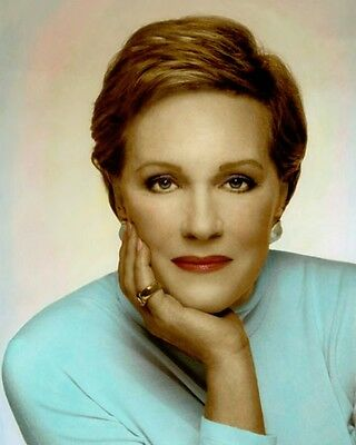 """JULIE ANDREWS HOLLYWOOD ACTRESS MOVIE STAR 8x10"""" HAND COLOR TINTED PHOTOGRAPH"""