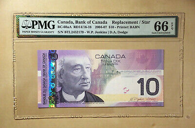 Canada BC-68aA 2004-07 $10 Jenkins| Dodge PMG 66 EPQ Replacement / Star Top Pop!