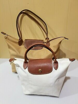 LONGCHAMP Le Pliage Bundle - One Large an Tote and One Mini Cream-Colored  Tote 9fea2f3955a8a