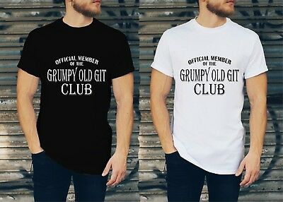 GRUMPY OLD GIT T Shirt Grandad Uncle Father's Day Birthday