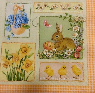 3 Paper Napkins for Decoupage / Parties  - Easter