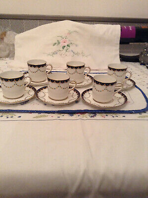 Vintage Fords China 6  bone china demitasse coffee cups/ saucers good cond