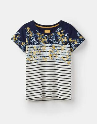 Joule Women's  Nessa Floral   PRINTED JERSEY T-SHIRT UK 14 RRP £24.95