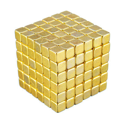216PCs 5mm Magic Golden Strong Square Buck Ball Creative Imanes Fun Magnetic