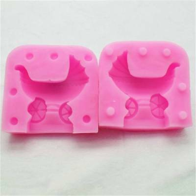3D Baby Stroller Silicone Candle Mold Resin Clay Soap Molds Fondant Cake Decor