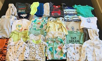 Baby Boy 3-6 Months Large Clothing Bundle Sleepsuits T Shirts Dungarees Romper