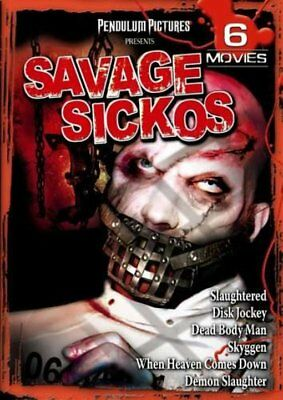 Savage Sickos 6-Film Collection: Slaughtered / Disk Jockey / Dead Body NEW DVD