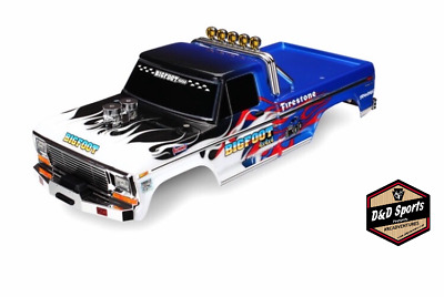Traxxas 3653 - Body, Bigfoot Flame, Officially Licensed replica painted, decals