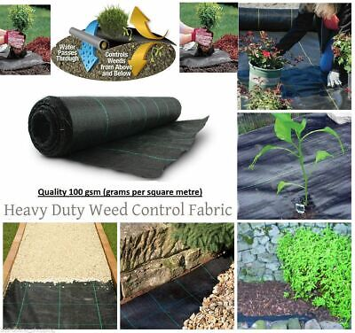 3M WIDE GroundMaster HEAVY DUTY WEED CONTROL FABRIC GROUND COVER MEMBRANE