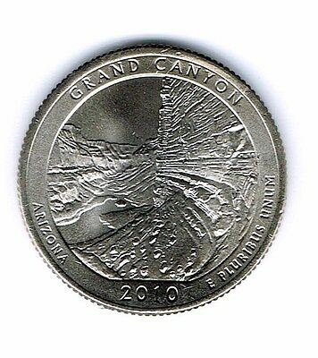 2010-P Brilliant Uncirculated Grand Canyon National Park Quarter Coin!