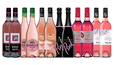 Mixed Pink Sweet Wine - Ultimate Summer Pack Special 12x750ml Free Delivery