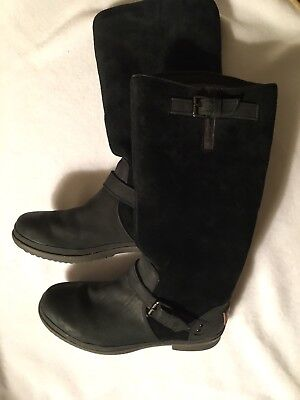 552a4d51536 UGG AUSTRALIA THOMSEN Black Wool Lined Boots Black Suede, Waterproof ...