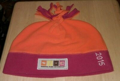 021099e1e04 adult one size fits all Dunkin  Donuts fleece winter hat America Runs On  Warm