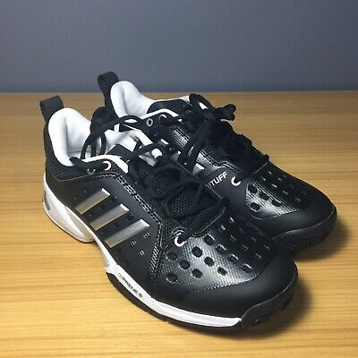 66869fcf1a7 uk availability 0def2 adb0c Adidas Barricade Classic Black White  TennisRacquet Shoe CP8694