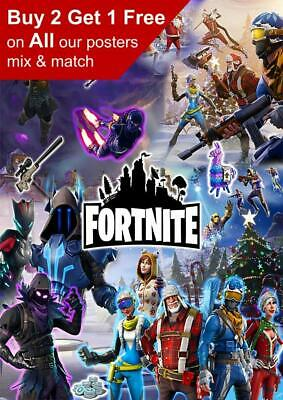 Fortnite Game Poster A5 A4 A3 A2 A1