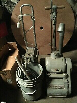 Speedmatic Floor Drum Sander with Accessories and Pads (Antique)