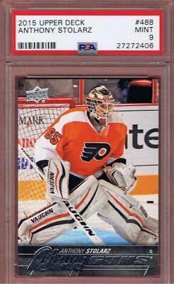 2015-16 Upper Deck Anthony Stolarz Young Guns #488 Rookie Psa 9 Rc Ud Yg 15-16