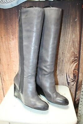 5e14d2f29c63 FRANCO SARTO ROSELLE Women s Taupe Leather High Boot Sz 8.5M 2832 ...