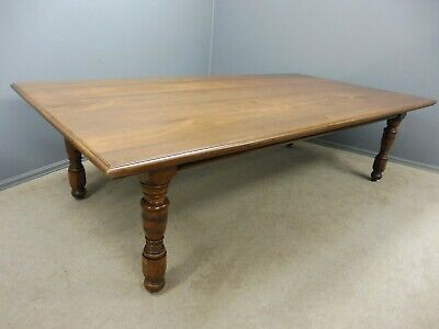 Large Antique Walnut Dining Table Circa 1890 Seats 10