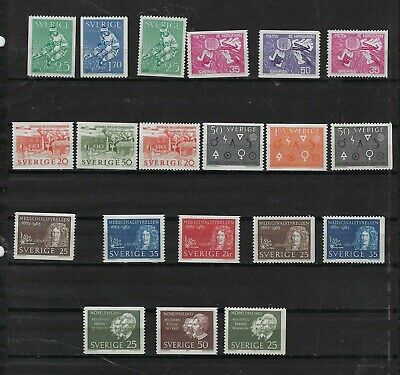 Sweden Year 1963 MNH  Scott $ 20