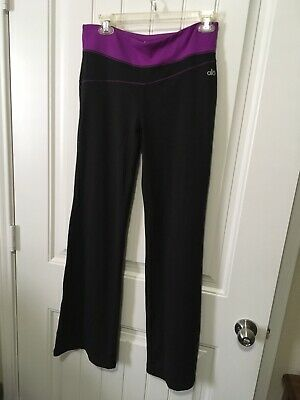 dd8153d1d5 ALO FLARE ATHLETIC Yoga Workout Pants sz Small Gray Purple Leggings ...