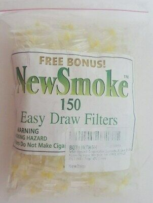 New Smoke Easy Draw Cigarette Filters Bulk Pack 150 Filters Nicotine Tar Filter