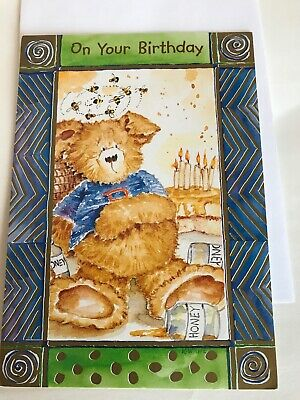 Happy Birthday Greeting Card Bumble Bear Kathryn White For Child