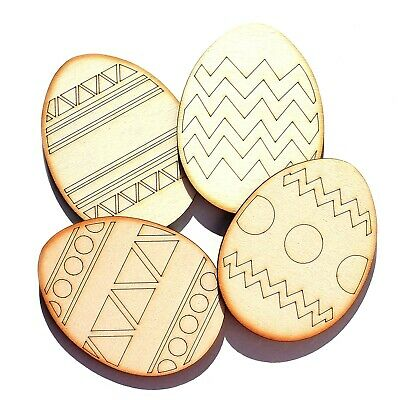 Wooden ☆ Easter Egg ☆ Chicken ☆ Bunny ☆ Patterns Shapes Plywood Home Decor Craft