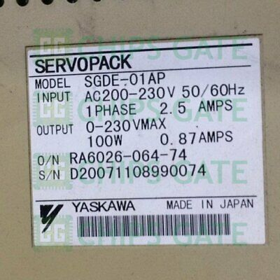 1PCS USED Yaskawa SGDE-01AP Tested in Good Condition Fast Ship