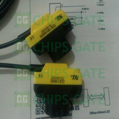 New Banner QS186E QS18VN6R-75132 Photoelectric Emitter and Receiver 10-30VDC