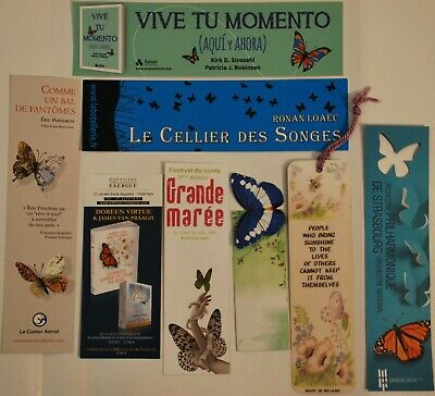 8 marque pages thème papillon -butterfly bookmarks