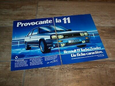 Publicité magazine /   Advertising AD RENAULT 11 Turbo Zender 1985 //