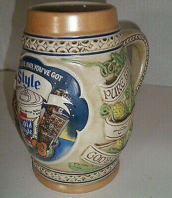 HEILEMANS OLD STYLE BEER STEIN 1983 CHICAGOLAND YOU'VE GOT STYLE Chicago Vintage
