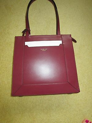 72ac2ea35c Brand New With Tags Leather Radley Hardwick Large Workbag Tote Burgundy  Rrp£219