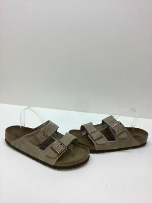 feed8b4a264 Birkenstock Arizona BS Taupe Suede Buckle Slide Sandals Women s Size 42 M
